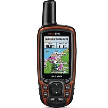 "Ръчна навигация Garmin GPSMAP 64s, 2.6"" (6.60 cm) TFT дисплей, microSD Flash, USB image"