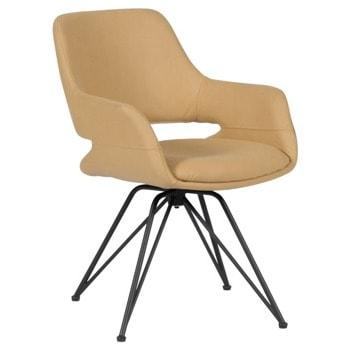 Трапезен стол Carmen Totnes, до 100kg., дамаска, метална база, жълт image