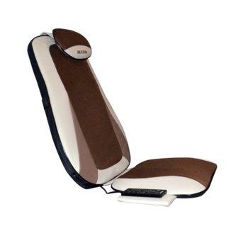 Масажна подложка Rexton CF-2508, за офис стол или автомобилна седалка, различни видове масаж, дистанционно/контролер, функция за нагряване, кафява image