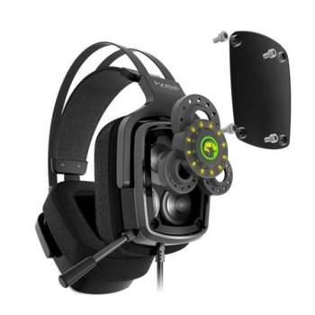 Слушалки Marvo HG9046, микрофон, подсветка, гейминг, USB 2.0, True 7.1, черни image