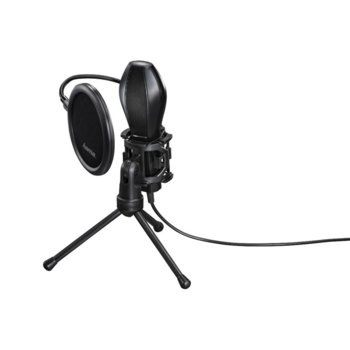 Микрофон HAMA MIC-USB Stream, 50 Hz - 16 kHz честотен диапазон, 2.0 m. кабел, USB, черен image