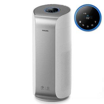 Пречиствател на въздух Philips AC3854/50, 60W, за помещения до 60 м2, FY4440/30 филтър, 3 настройки, CADR (частици): 500 м³/ч, премахване на ултрафини частици: малки колкото 3 нм, бял image