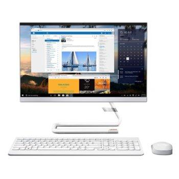 "All In One компютър Lenovo Ideacentre A340-22ICK (F0ES0056BG)(бял), четириядрен Coffee Lake i3-9100T 3.1/3.7 GHz, 21.5"" (54.62cm) Full HD WVA Anti-Glare Display, 4GB DDR4, 1TB HDD, 2x USB 3.1, клавиатура и мишка, Free DOS image"