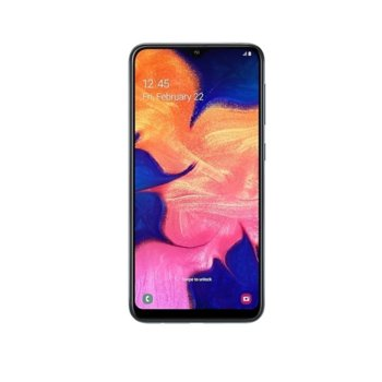 "Смартфон Samsung Galaxy A10 (2019) SM-A105F (черен), поддържа 2 sim карти, 6.2"" (15.75 cm) IPS дисплей, осемядрен Exynos 7884 1.6 GHz, 2GB RAM, 32GB (+microSD слот), 13.0 & 5.0 MPix камера, Android, 168 g image"