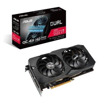 Видео карта AMD Radeon RX 5500 XT, 4GB, Asus Dual EVO OC Edition, PCI-E 4.0, GDDR6, 128-bit, 3x DisplayPort, HDMI image