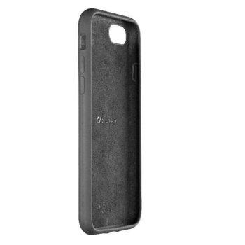 Калъф за Apple iPhone 7/8, силикон и велур, Cellular Line Sensation, черен image