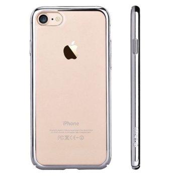Калъф за Apple iPhone 7, страничен протектор с гръб, поликарбонат, Devia Glimmer, сребрист image