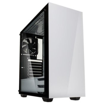 Кутия Kolink Stronghold White TG, ATX/Micro ATX/Mini-ITX/E-ATX, 1x USB 3.0, бяла, без захранване image