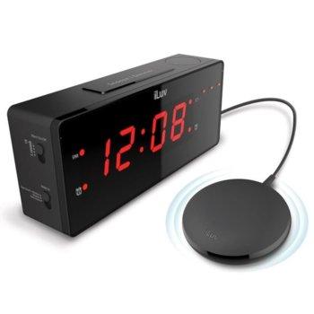 Часовник iLuv TimeShaker Wow, LED дисплей, с аларма, 3 нива на сила, черен image