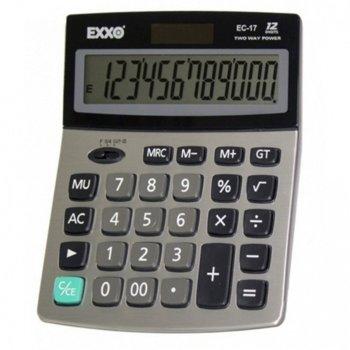 Калкулатор Exxo EC-17, настолен, сив image