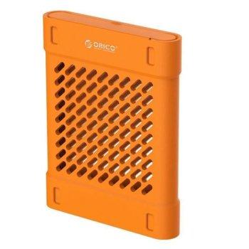 Силиконово защитно калъфче Orico PHS-25-OR за 2.5-инчови HDD/SSD, оранжев image