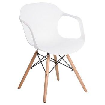 Трапезен стол Carmen 9964, бял image