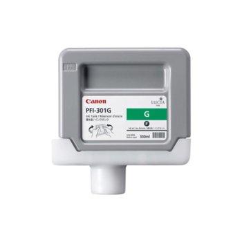 Мастило за Canon PF8000 and iPF9000 - Green - 1493B001 - Ink Tank PFI-301 - 330ml image