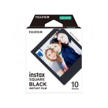 Фотохартия Fujifilm Instax Square, черна рамка, 3,4 х 2,8 inch, за Fujifilm Instax Square, 10 листа image