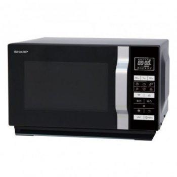 Микровълнова фурна Sharp R360BK, сензорно управление, 900 W, 23 л. обем, терморегулатор, защита от деца, 24 часово авто меню, черна image