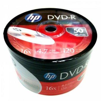 Оптичен носител DVD+R media 4.7GB, HP, 16x, 50бр. image