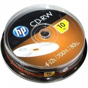 Оптичен носител CD-RW media 700MB, HP, 12x, 10бр. image