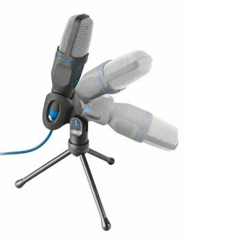Микрофон TRUST Mico USB, 1.8m кабел, 3.5mm, USB, черен image