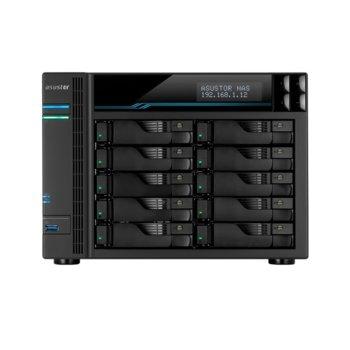 "Мрежови диск (NAS) Asustor Lockerstore 10 Pro (AS7110T), четириядрен Intel Xeon Quad-Core E-2224 3.4GHz/4.6GHz, без твърд диск (10x (2.5""/3.5"" SATA or SSD), 2x M.2 Slots (2280 NVMe SSD)), 8GB DDR4, 3x LAN10/100/1000, 2x USB 3.2 Gen2 image"