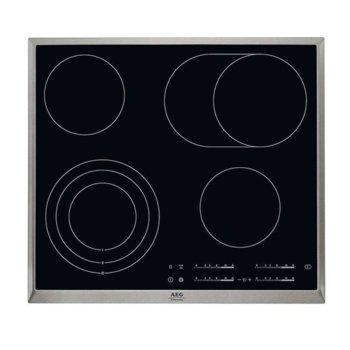 Стъклокерамичен плот за вграждане AEG HK 365407 XB, 4 нагревателни зони, сензорно управление, OptiHeat, черен image