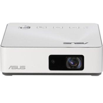 Преносим проектор Asus ZenBeam S2 White, DLP, HD (1280x720), 500 lumens, HDMI, USB-C, USB-A, 6000mAh батерия image