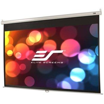 "Екран Elite Screen M84NWH Manual, стенен/таванен монтаж, MaxWhite, 1850 x 1040 мм, 84"" (213.36 cm), 16:9 image"