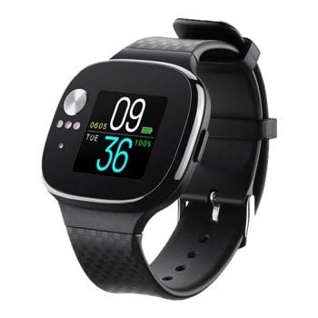 Смарт часовник Asus VivoWatch BP, LCD дисплей, до 28 дни време за работа, Bluetooth, водоустойчив IP67, черен image