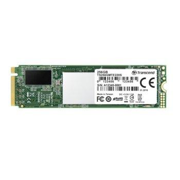 Памет SSD 256GB Transcend 220S, NVMe PCIe, M.2(2280), скорост на четене 3500MB/s, скорост на запис 2800MB/s image