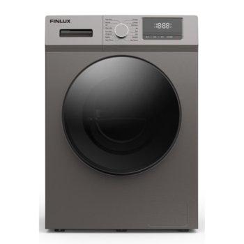 Перална машина Finlux FX8-1200S, A+++, 8кг капацитет на пералня, 1200 оборота в мин, 16 брой програми, свободностояща, 60см ширина, цикъл за почистване на барабана, силвър image
