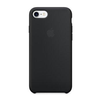 Калъф за Apple iPhone 7, страничен протектор с гръб, силиконов, Apple iPhone Stone, черен image
