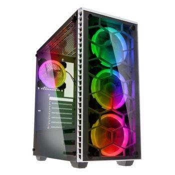 Кутия Kolink Observatory RGB TG, ATX/Micro ATX/Mini ITX/Extended ATX, прозорец, 1x USB 3.0, 2x USB 2.0, бяла, без захранване image