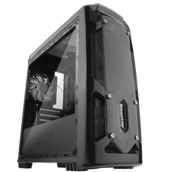 Кутия Segotep Polar Light v2, microATX/Mini-ITX, 1x USB 3.0, 2x USB 2.0, черна, без захранване image