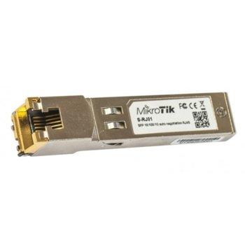 SFP модул MikroTik S-RJ01, LC/UPC interface, до 100m, Multi-Mode, 1x LAN (RJ-45) , multi-mode image