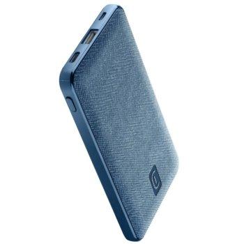Външна батерия /power bank/ Cellularline Shade (PBSTYLE5000B), 5000mAh, 1x USB-A, 1x USB-C, 1x USB-Micro, синя image