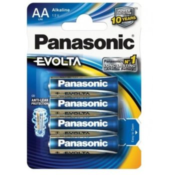 Батерии алкални Panasonic Evolta LR6EG/4B, AA, LR6EG, 1.5V, 4бр. image