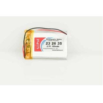 Литиева батерия LP232635-PCM, 3.7V, 150mAh, Li-polymer, 1бр., PCM защита image