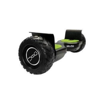 Ховърборд Nilox DOC OFF ROAD, до 10км/ч скорост, 20км макс. пробег, до 100кг, 2x 350W двигатели, черен-зелен image