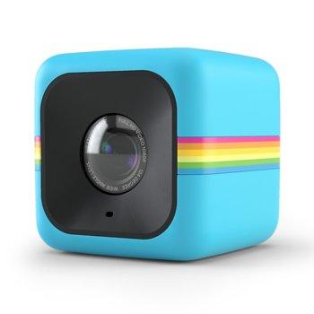 Екшън камера Polaroid CUBE, Full HD, 124° зрителен ъгъл, microSD слот(до 32GB), microUSB Type B, устойчива на пръски, синя image
