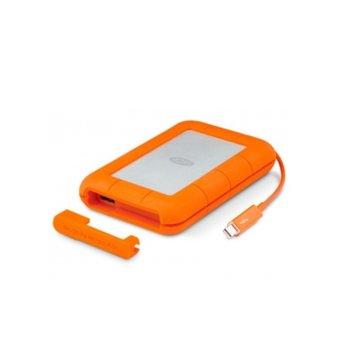"""Твърд диск 1TB, LaCie Rugged STEV1000400, външен, 2.5"""" (6.35 cm), Thunderbolt, USB 3.0, оранжев image"""