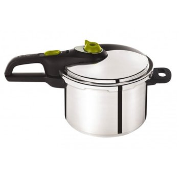 Тенджера под налягане Tefal P2530741, 6 литра, неръждаема стомана, 2 програми за готвене, възможност за миене в съдомиялна машина, инокс image