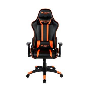 Геймърски стол Canyon Fobos CND-SGCH3, до 150 кг., черен/оранжев image