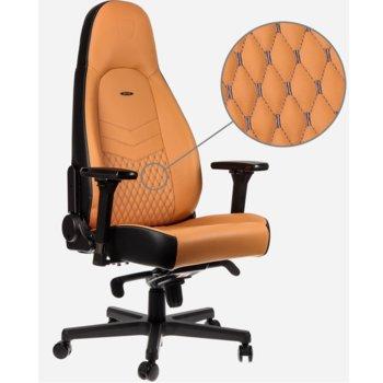 Геймърски стол noblechairs Icon, еко кожа, жълт image