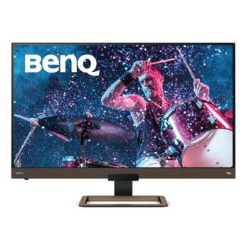 """Монитор BenQ EW3280U (9H.LJ2LA.TBE), 32"""" (81.28 cm) IPS панел, 4K/UHD, 5ms, 20 000 000:1, 400cd/m2, DisplayPort, HDMI, USB Type-C  image"""