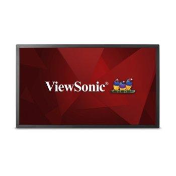 """Дисплей ViewSonic CDM5500T, тъч дисплей, 54.6"""" (138.684 cm), Full HD, HDMI, DVI-I, DisplayPort, USB, RS232 image"""