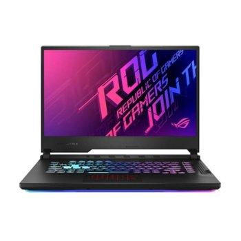 "Лаптоп Asus ROG STRIX G15 G512LU-HN080 (90NR0351-M03020-16GB), шестядрен Comet Lake Intel Core i7-10750H 2.6/5.0 GHz, 15.6"" (39.62 cm) Full HD IPS 144Hz Anti-Glare Display & GF GTX 1660Ti 6GB, (HDMI), 16GB DDR4, 512GB SSD, No OS image"
