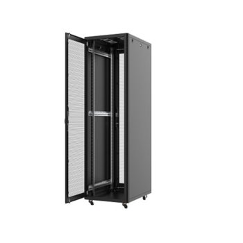 """Комуникационен шкаф Security Professionals MR.GTS46U61.01, 19"""", 46U, 610 x 1000 x 2206, свободностоящ, товароносимост 2000кг, вентилационни отвори, секция за клавиатура и мишка, черен image"""