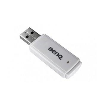 Безжичен адаптер за проектор BenQ WDS01, IEEE 802.11b/g/n, бял image