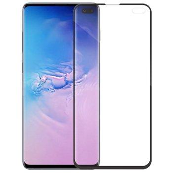 Протектор от закалено стъкло /Tempered Glass/, за Samsung Galaxy S10 Plus, 5D, черна рамка image
