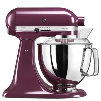 Кухненски робот KitchenAid 5KSM175PSEBY, 300W, 10 скорости, контейнер от неръждаема стомана, диск за емулгиране, 2бр. купи - 4.8L и 3L, лилав image