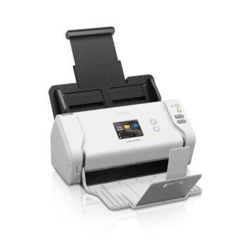 Скенер Brother ADS-2700W ADS2700WTC1, 1200 x 1200 dpi, A4, двустранно сканиране, 35 стр./мин, ADF, USB 2.0, Wi-Fi/Direct, LAN 10/100 Base-T image